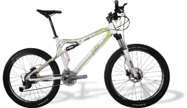 e-full suspension mountainbike 26